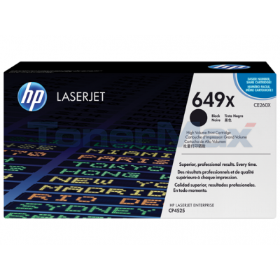 HP CLJ CP4525 PRINT CARTRIDGE BLACK HY